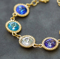 Gold Grandmother's Bracelet, Birthstone Jewelry