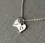 couples necklace, personalized jewelry for girlfriend