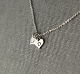 Custom Letter necklace, Gift for couples long distance relationship