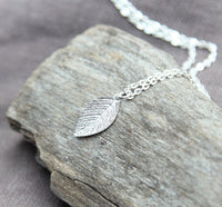 Dainty Nature Inspired Leaf Necklace, Minimal Jewelry