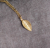 Dainty Nature Jewelry, Gold Leaves Necklace