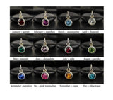 Sterling Silver birthstone color chart