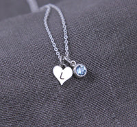 Custom Jewelry for Grandma, heart necklace