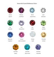 Custom Swarovski Crystal birthstone color chart