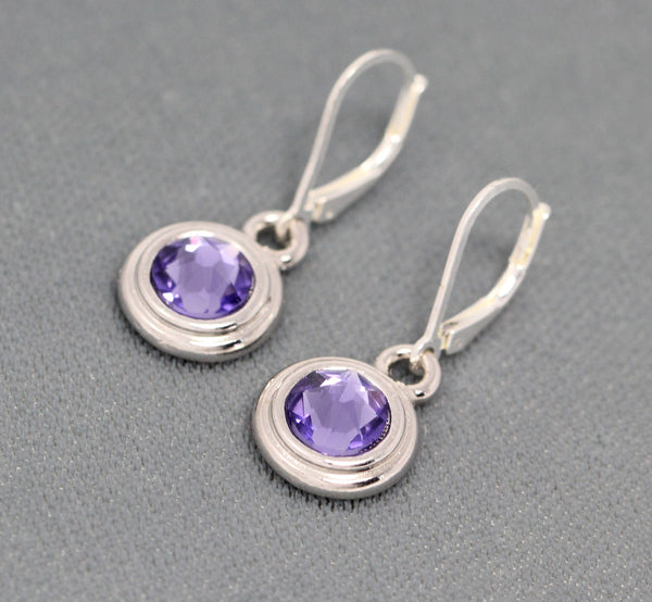 birthstone earrings, crystal jewelry