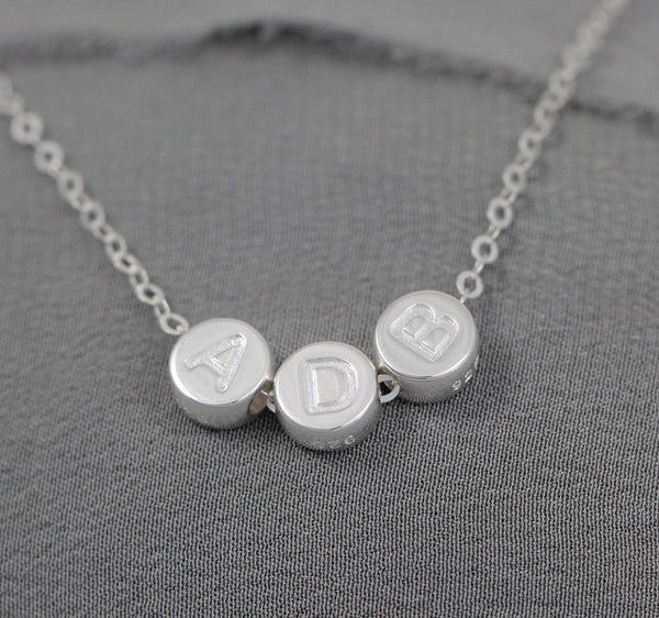 Sterling Silver Layering Necklace, Personalized Gift for Women, Initial Jewelry, Christmas, Birthday, Gold, Mom, Wife, Her, Minimal Layering