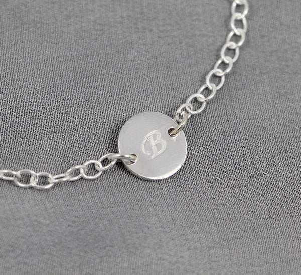 Initial bracelet for mom, Sterling Silver Jewelry