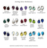 quartz and natural gemstone birthstone color chart