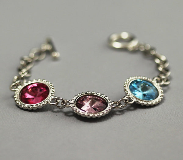 Personalized Mother's Jewelry, Birthstone Grandmothers Bracelet
