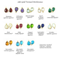 gold and natural gemstones birthstone chart