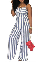 Load image into Gallery viewer, Striped Palazoo Jumpsuit