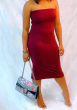 "Load image into Gallery viewer, ""Finer Than Wine"" Back Split Tube Dress"