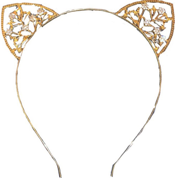 Bad Little Kitty Mama Rhinestone Headband
