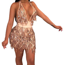 Load image into Gallery viewer, Bling Tassel Dress