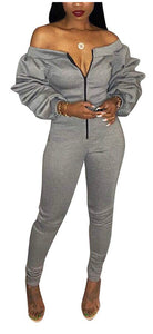 On Chill Grey Jumpsuit