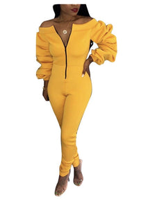 Amped Up Jumpsuit In Yellow