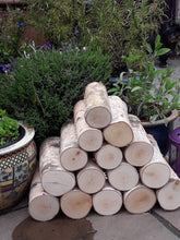 Full Round Kiln Dried Birch Logs x 5 - Fine Sawn Both Ends 22cm Long