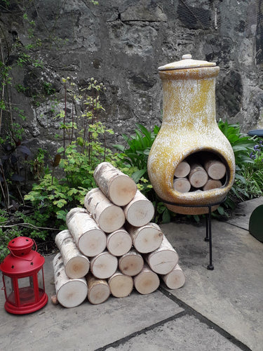 Full Round Logs - Kiln Dried Birch - 20cm Long