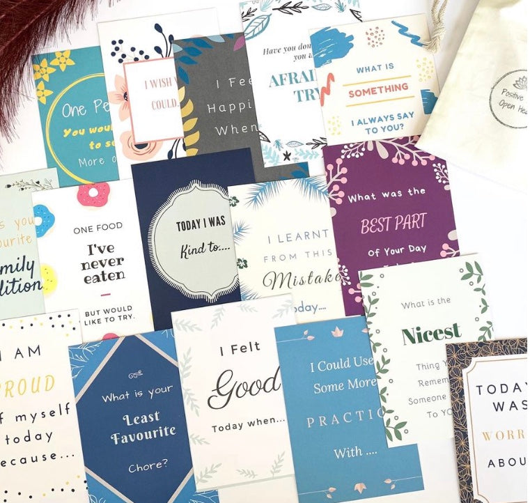 Affirmation Cards Conversation (incl timber stand)