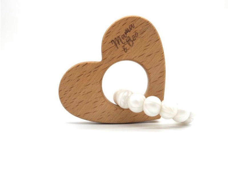 Circle My Heart Teething Toy PEARL