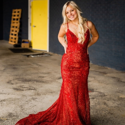 red sparkly prom dress 2021