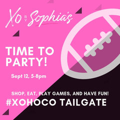 Info graphic about the XO HOCO TAILGATE PARTY