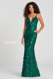Sophias Prom By Colette For Mon Cheri CL12027 EMERALD Prom Dress