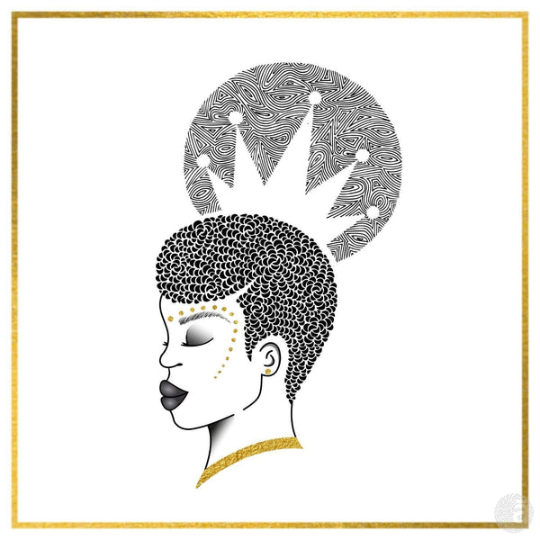 """Crowned"" Greeting Card - Anaya Arts"