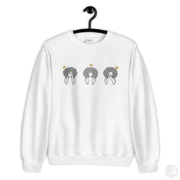 "Unisex crewneck-""See-Hear-Speak"" - Shop wall art, apparel, accessories, Greeting cards & colouring sheets 