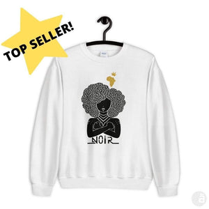 "Unisex crewneck-""Noir"" - Shop wall art, apparel, accessories, Greeting cards & colouring sheets 