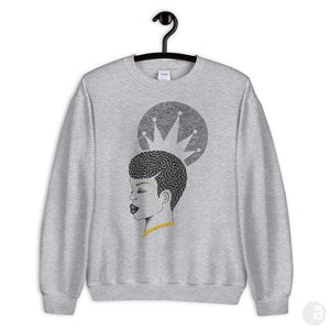 "Unisex crewneck-""Crowned"""