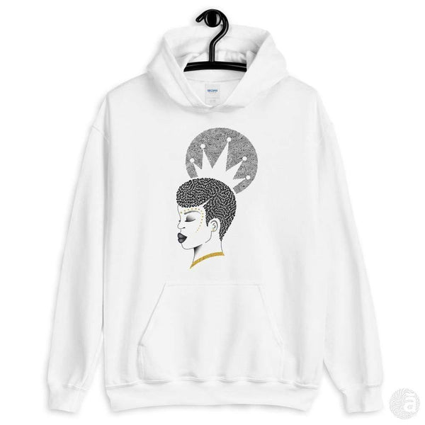 "Unisex hoodie-""Crowned"" - Shop wall art, apparel, accessories, Greeting cards & colouring sheets 