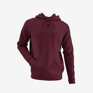 Maroon unisex hoodie- ā - Shop wall art, apparel, accessories, Greeting cards & colouring sheets | Anaya Arts