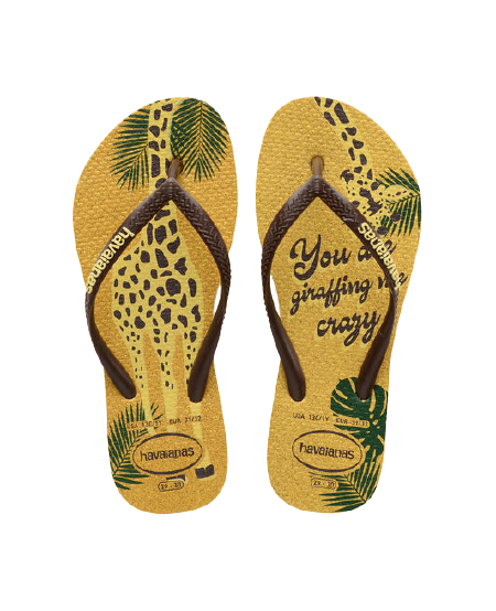 HAVAIANAS KIDS SLIM GLITTER - LEMON YELLOW
