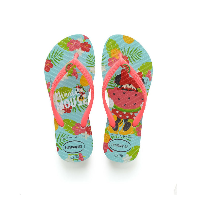 HAVAIANAS KIDS DISNEY COOL - ICE BLUE.CORALNEW