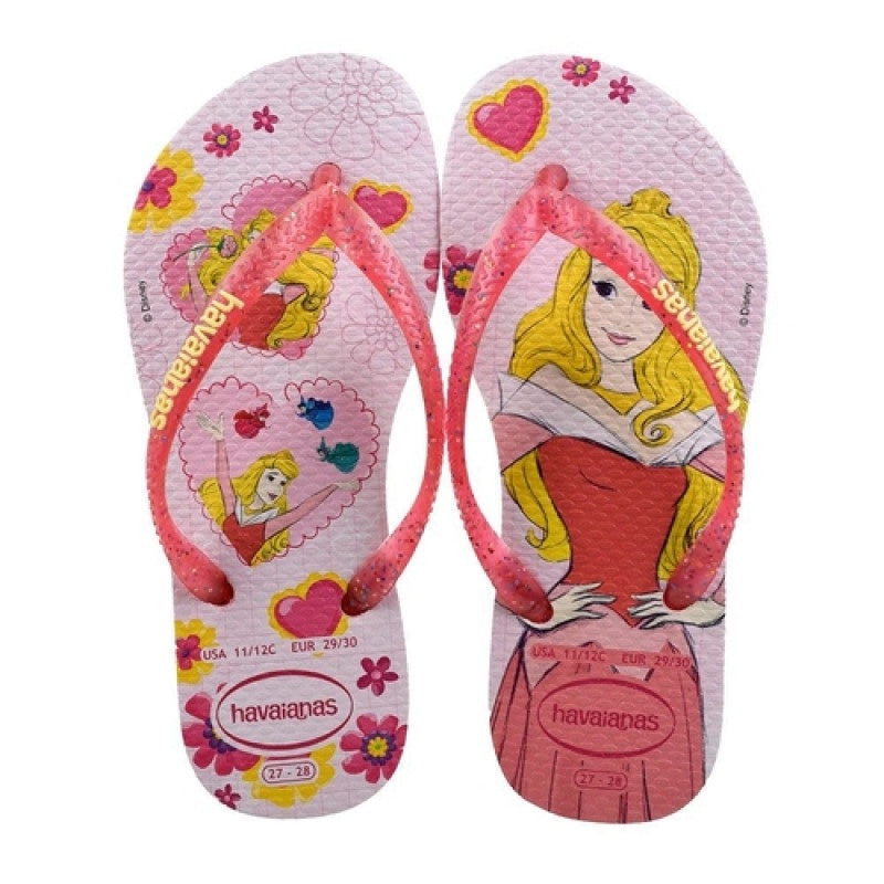 HAVAIANAS KIDS SLIM PRINCESS - CREAM ROSE/LOLLIPOP