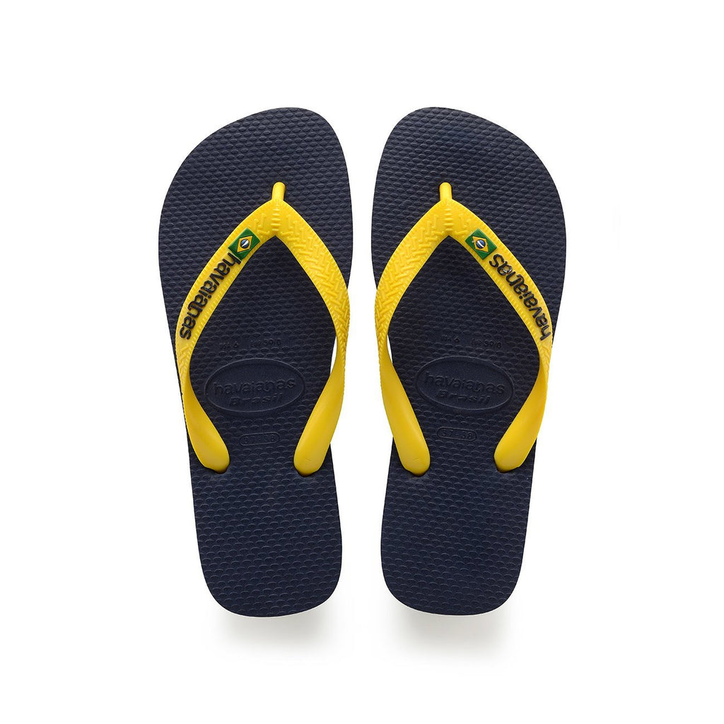 HAVAIANAS BRASIL LOGO - NAVY BLUE CITRUS YELLOW