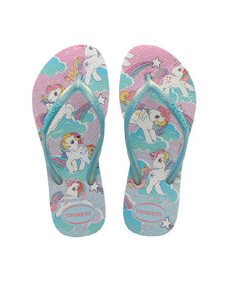 HAVAIANAS KIDS SLIM MY LITTLE PONY - WHITE