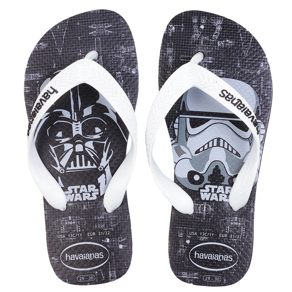 HAVAIANAS KIDS STAR WARS - BLACK.WHITE