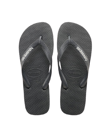 HAVAIANAS LOGO FILETE - BLACK/BLACK/WHITE