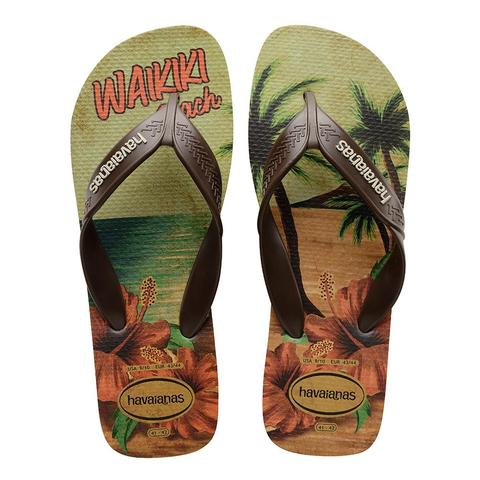 HAVAIANAS SURF - SAND GREY/DARK BROWN/BEIGE