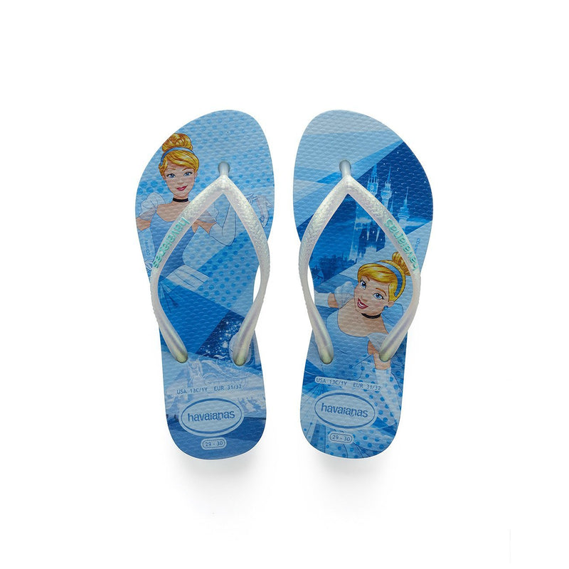 HAVAIANAS KIDS SLIM PRINCESS - BLUE SPLASH