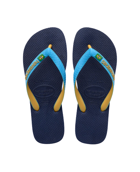 HAVAIANAS BRASIL MIX - NAVY BLUE/TURQUOISE/BURNED YELLOW