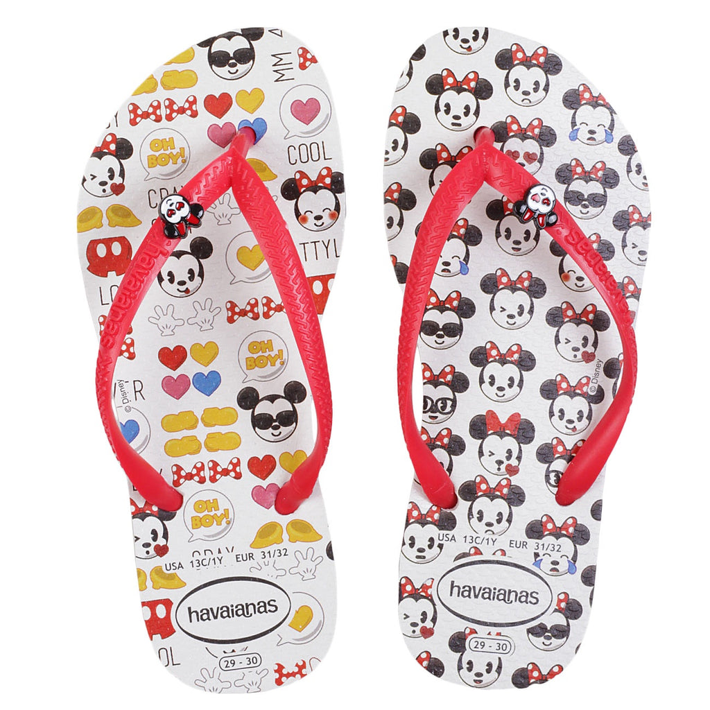 HAVAIANAS KIDS DISNEY COOL - WHITE.RUBY RED