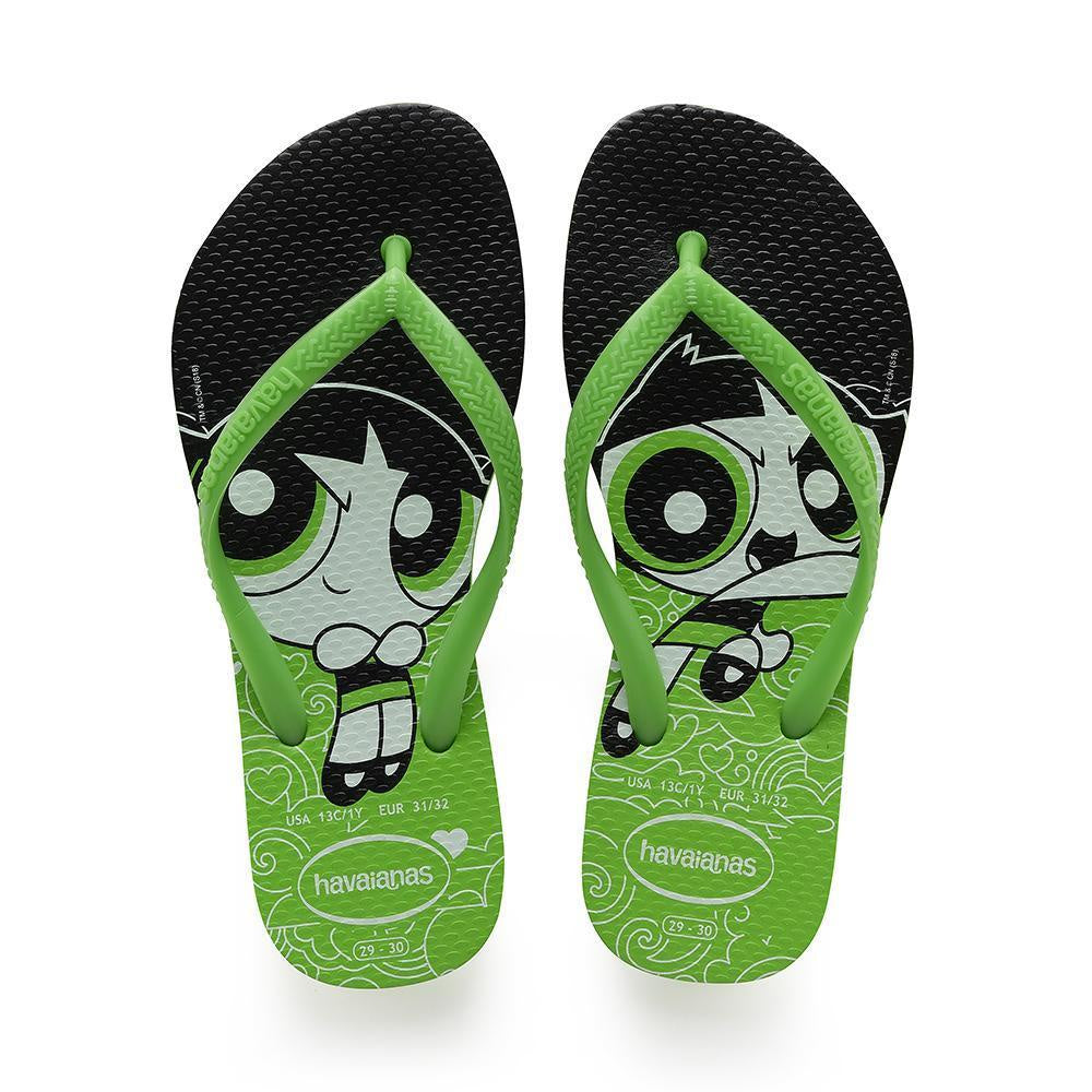 HAVAIANAS SLIM POWERPUFF GIRL - GREEN