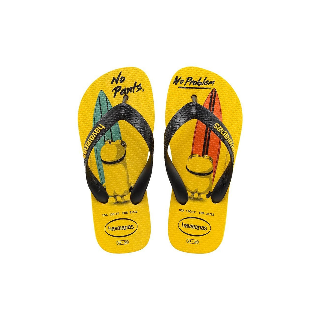 HAVAIANAS KIDS MINIONS - CITRUS YELLOW.BLACK