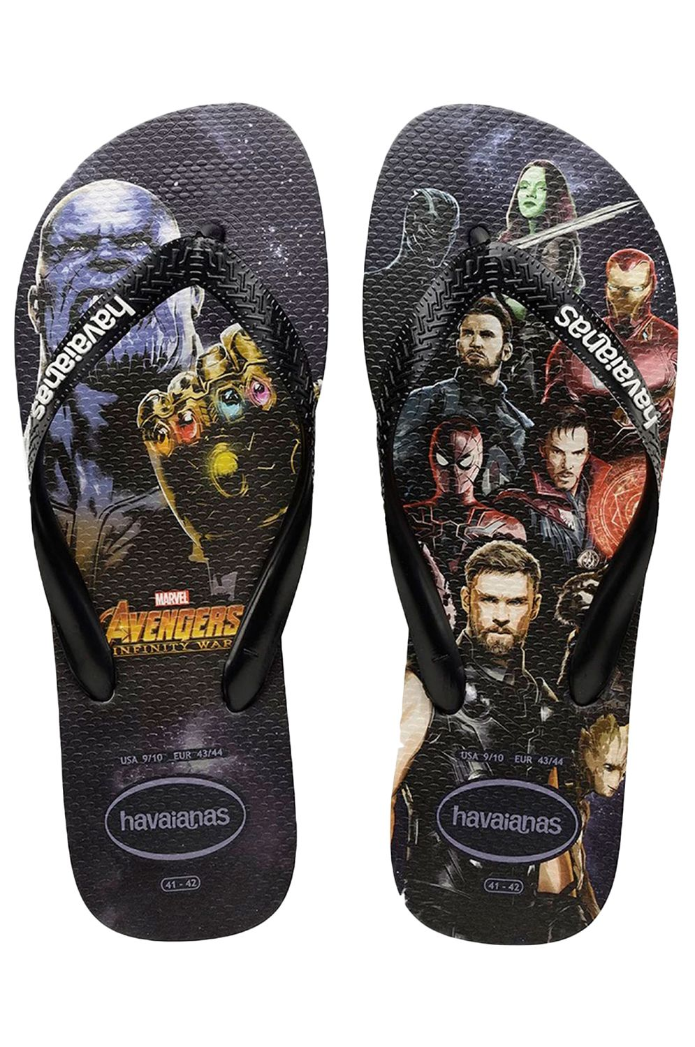 HAVAIANAS TOP MARVEL - BLACK/BLACK/WHITE