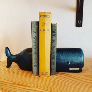 Cast Iron Whale Bookend