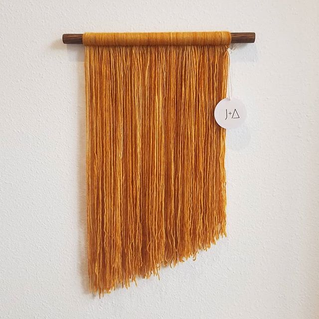 Mustard Fiber Art Wall Decor