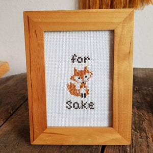 For Fox Sake Cross Stitch